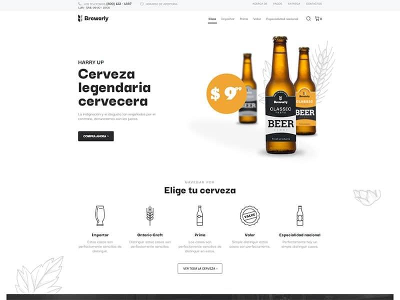 Tienda en línea de cerveza
