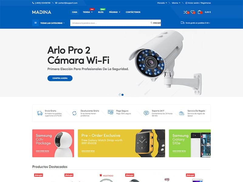 Tienda en línea de tecnología