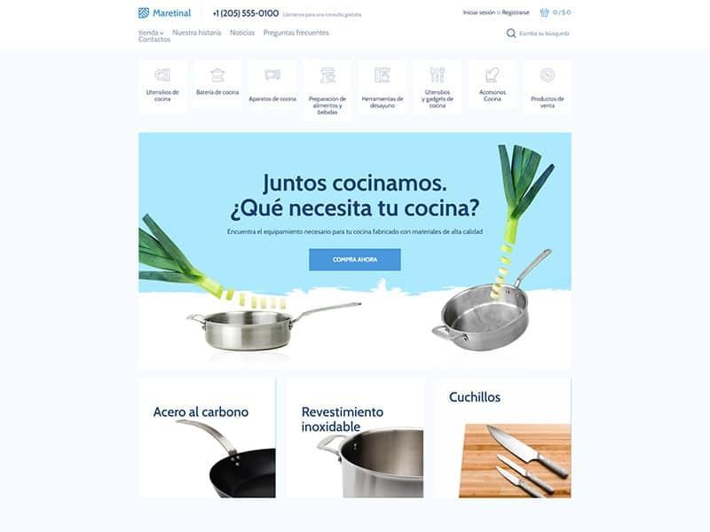 Tienda en línea de cocina